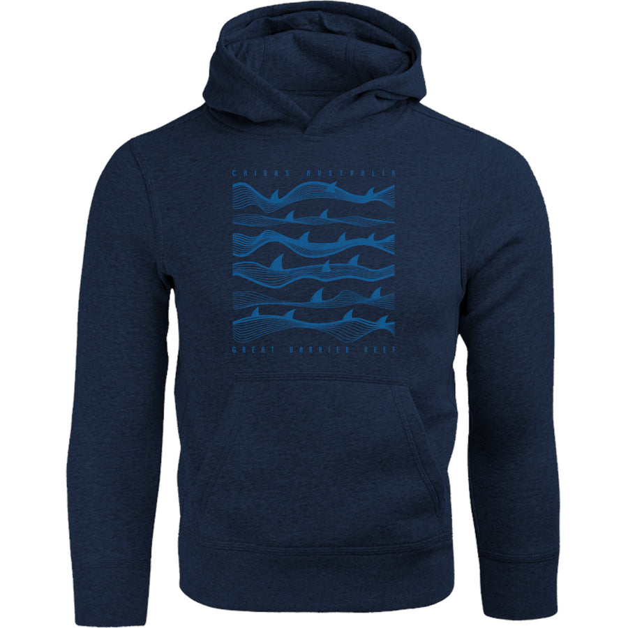 Cairns Australia Shark Waves - Adult & Youth Hoodie - Graphic Tees Australia