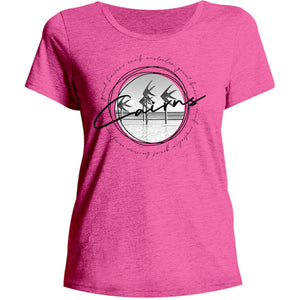 Cairns Circle Sketch - Ladies Relaxed Fit Tee - Graphic Tees Australia