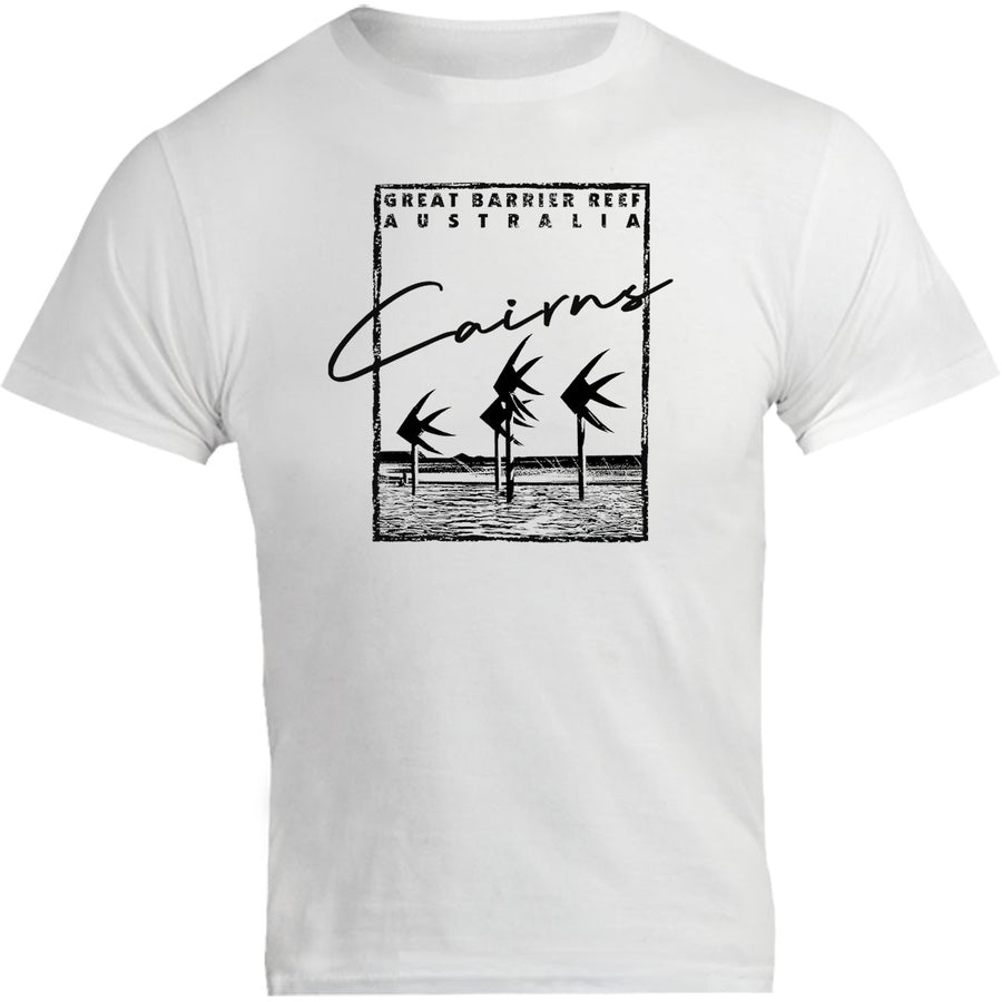 Cairns Script in Square - Unisex Tee - Graphic Tees Australia