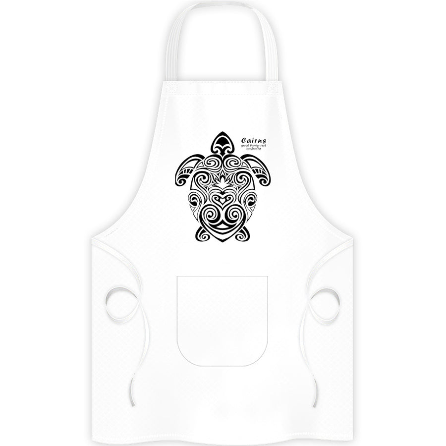 Cairns Turtle Tribal - Apron - Graphic Tees Australia