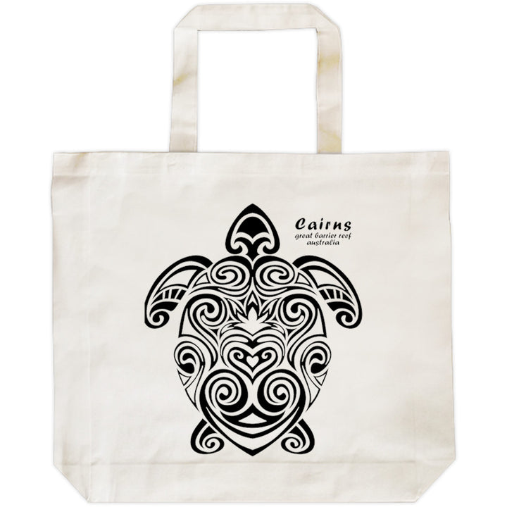 Cairns Turtle Tribal - Shopping Bag - Graphic Tees Australia