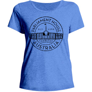 Canberra Australia Varsity Circle - Ladies Relaxed Fit Tee - Graphic Tees Australia