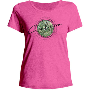 Canberra Circle Sketch - Ladies Relaxed Fit Tee - Graphic Tees Australia