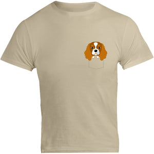 Cavalier in Pocket - Unisex Tee - Graphic Tees Australia