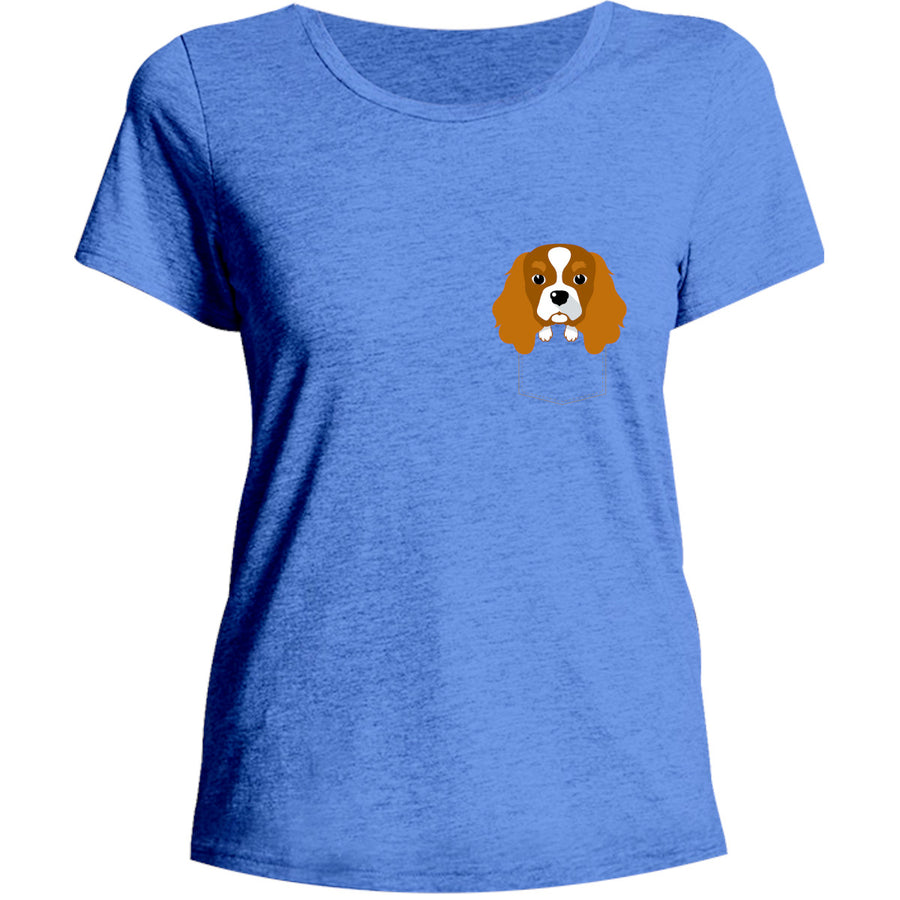 Cavalier in Pocket - Ladies Relaxed Fit Tee - Graphic Tees Australia