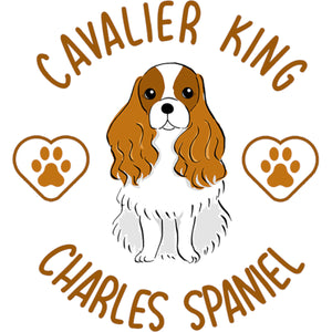 Cavalier King Charles Spaniel - Ladies Relaxed Fit Tee - Graphic Tees Australia