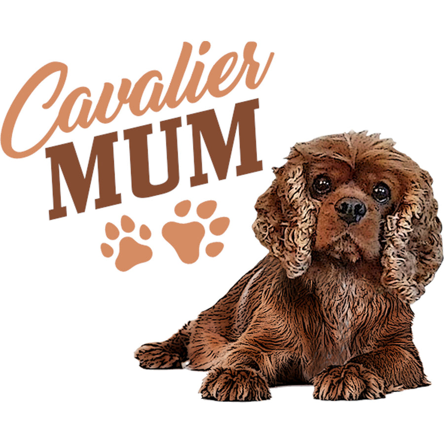 Cavalier Mum - Ladies Relaxed Fit Tee - Graphic Tees Australia