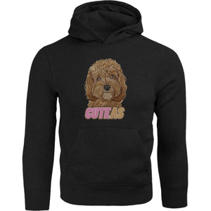 Cavoodle Cute As - Adult & Youth Hoodie - Graphic Tees Australia