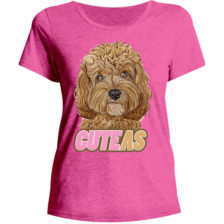 Cavoodle Cute As - Ladies Relaxed Fit Tee - Graphic Tees Australia