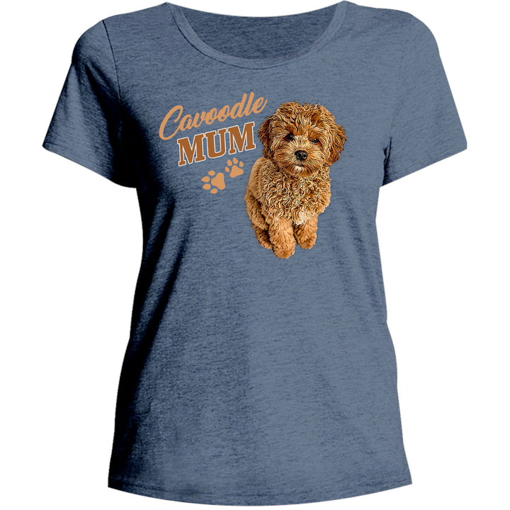Cavoodle Mum - Ladies Relaxed Fit Tee - Graphic Tees Australia