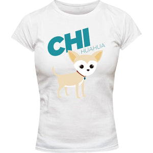 Chihuahua - Ladies Slim Fit Tee - Graphic Tees Australia