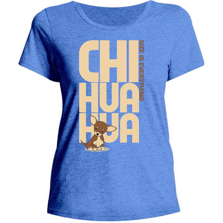 Chihuahua Size Is Everything - Ladies Relaxed Fit Tee - Graphic Tees Australia