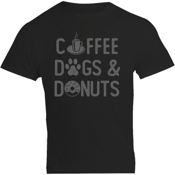 Coffee Dogs & Donuts - Unisex Tee - Plus Size - Graphic Tees Australia