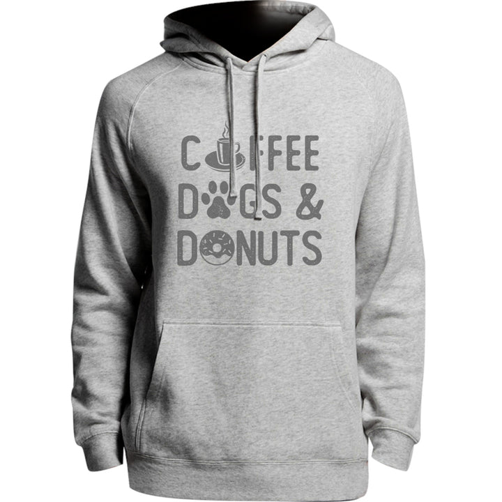Coffee Dogs & Donuts - Unisex Hoodie - Plus Size - Graphic Tees Australia