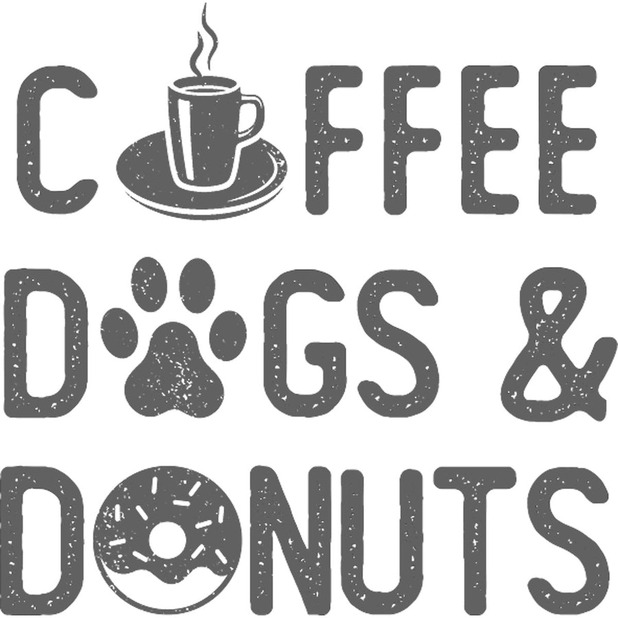 Coffee Dogs & Donuts - Ladies Relaxed Fit Tee - Graphic Tees Australia