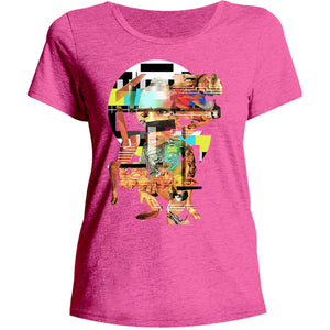 Collage 1 - Ladies Relaxed Fit Tee - Graphic Tees Australia