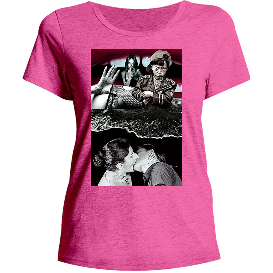Collage 4 - Ladies Relaxed Fit Tee - Graphic Tees Australia