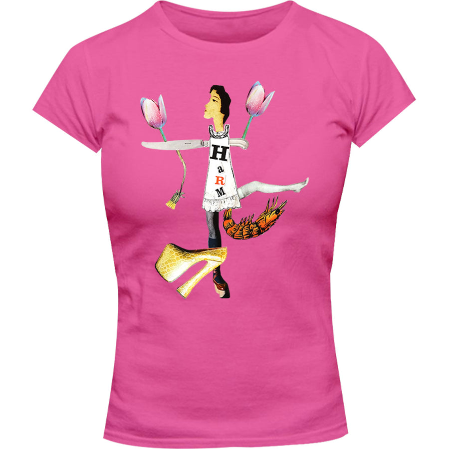 Collage 6 - Ladies Slim Fit Tee - Graphic Tees Australia