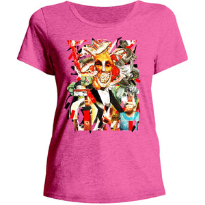 Collage 8 - Ladies Relaxed Fit Tee - Graphic Tees Australia