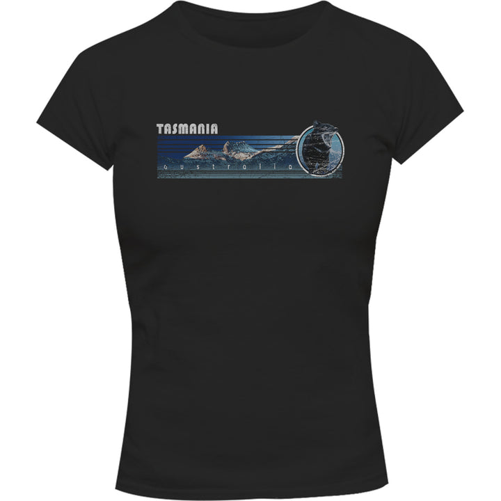 Cradle Mt Tasmania Landscape - Ladies Slim Fit Tee - Graphic Tees Australia