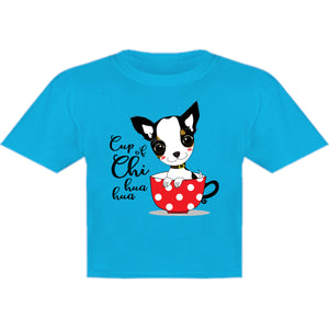 Cup Of Chi huahua - Youth & Infant Tee - Graphic Tees Australia