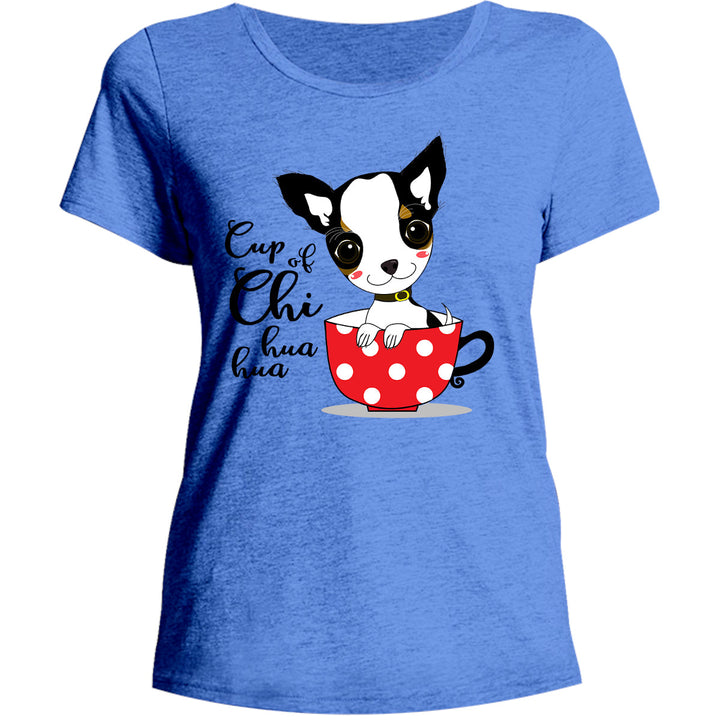 Cup Of Chi huahua - Ladies Relaxed Fit Tee - Graphic Tees Australia
