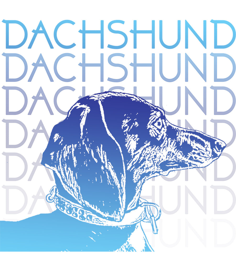 Dachshund Blues - Ladies Slim Fit Tee - Graphic Tees Australia