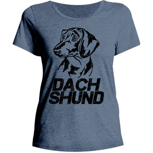 Dachshund - Ladies Relaxed Fit Tee - Graphic Tees Australia