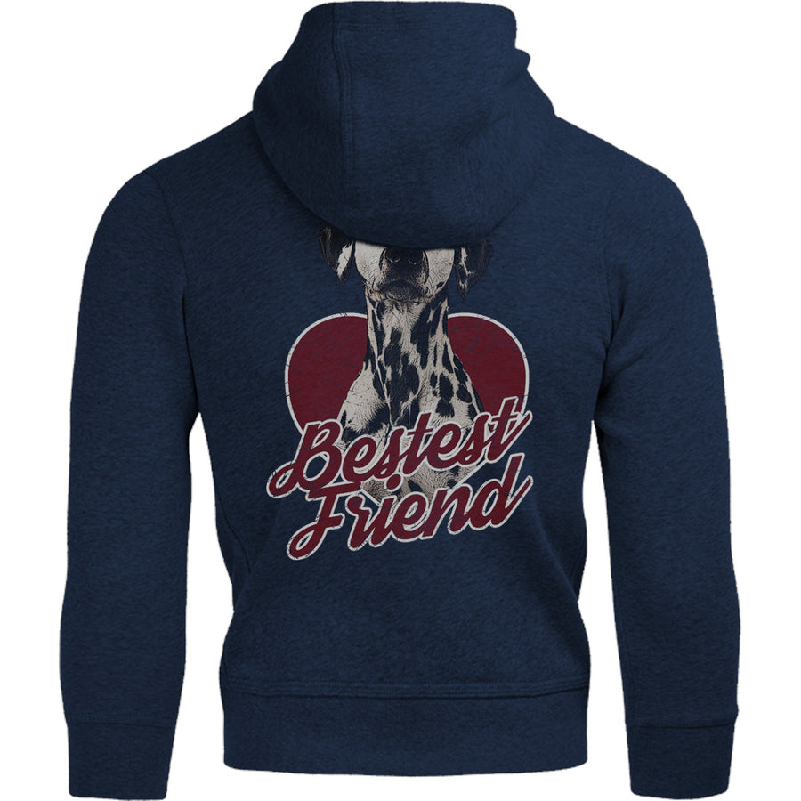 Dalmatian Bestest Friend - Adult & Youth Hoodie - Graphic Tees Australia