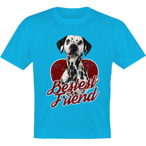 Dalmatian Bestest Friend - Youth & Infant Tee - Graphic Tees Australia