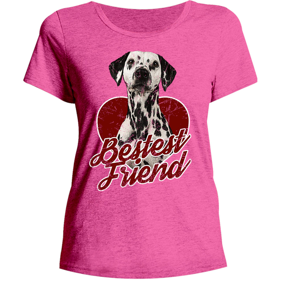 Dalmatian Bestest Friend - Ladies Relaxed Fit Tee - Graphic Tees Australia