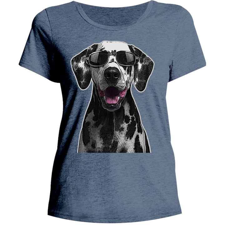 Dalmatian Cool As - Ladies Relaxed Fit Tee - Graphic Tees Australia