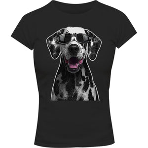 Dalmatian Cool As - Ladies Slim Fit Tee - Graphic Tees Australia