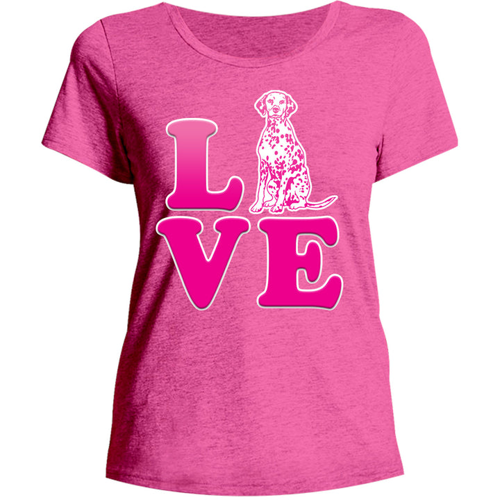 Dalmatian Love - Ladies Relaxed Fit Tee - Graphic Tees Australia