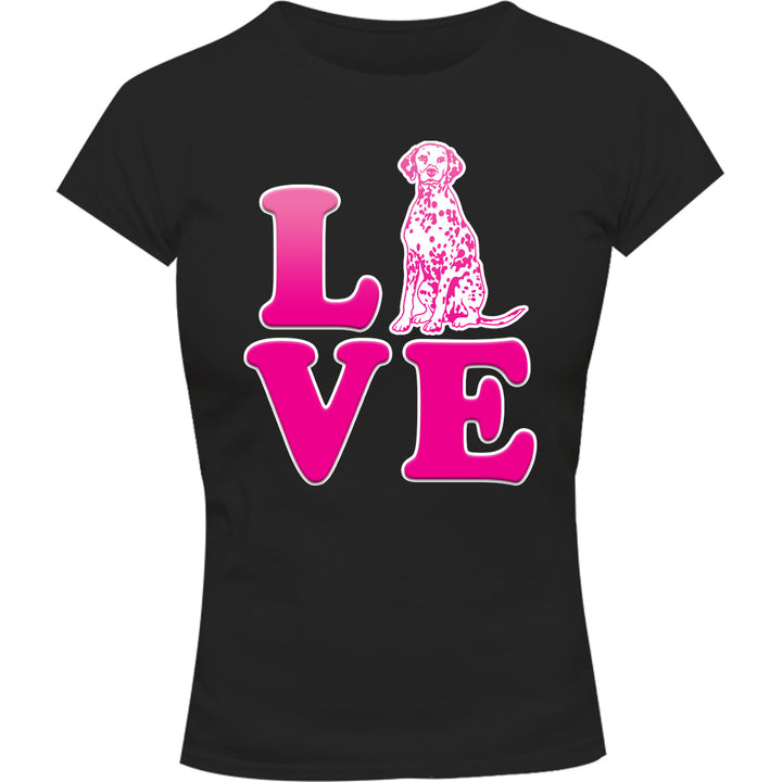 Dalmatian Love - Ladies Slim Fit Tee - Graphic Tees Australia