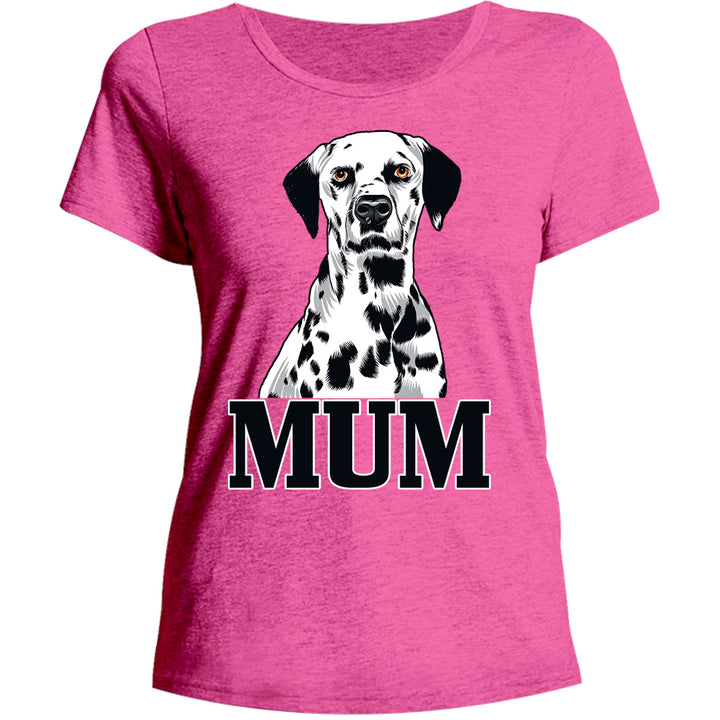 Dalmatian Mum - Ladies Relaxed Fit Tee - Graphic Tees Australia