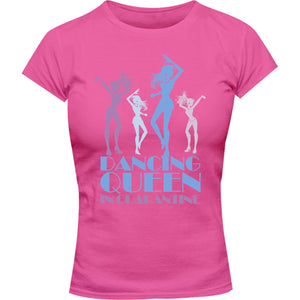 Dancing Queen Quarantine - Ladies Slim Fit Tee - Graphic Tees Australia