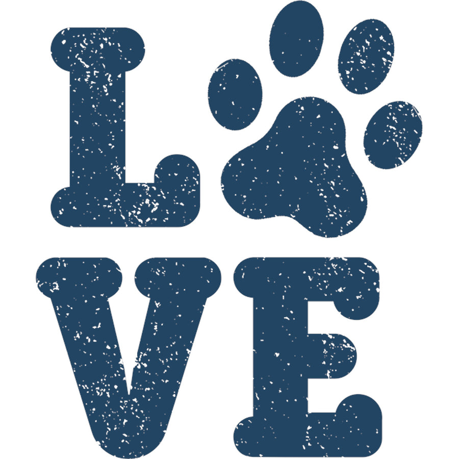 Dog Paw Print Love - Ladies Slim Fit Tee - Graphic Tees Australia