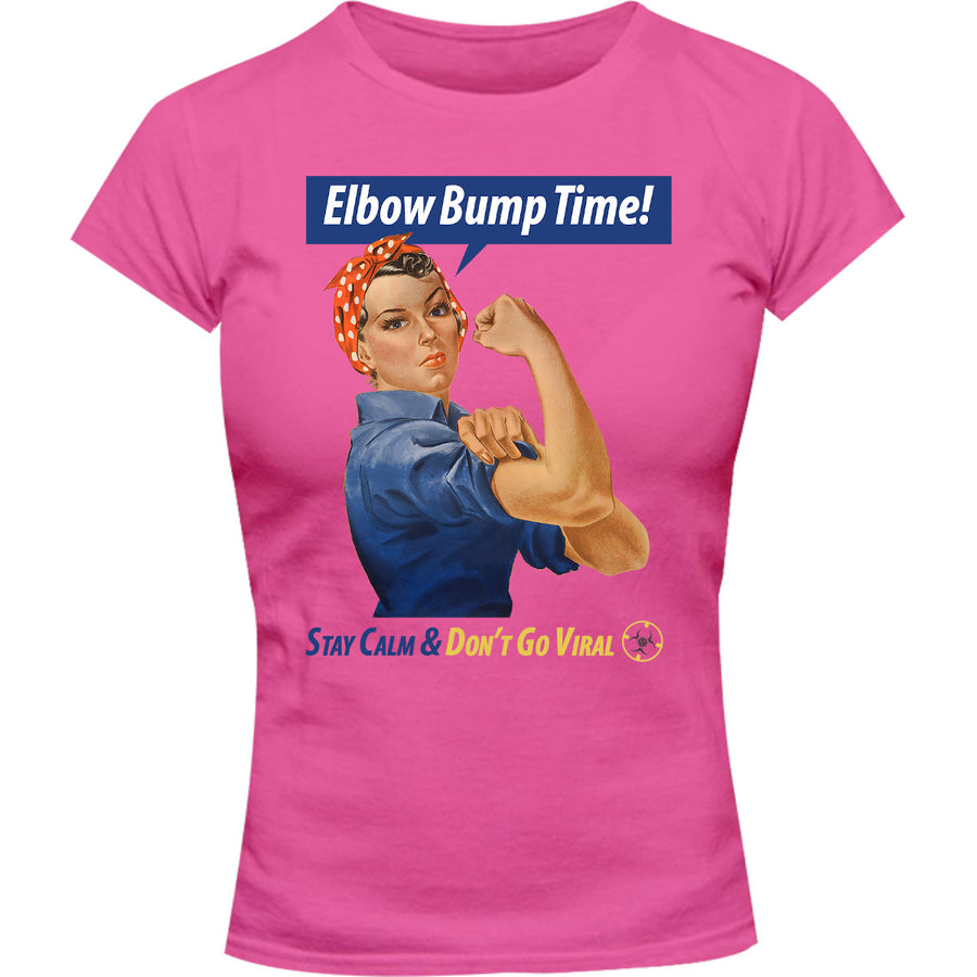 Elbow Bump Time - Ladies Slim Fit Tee - Graphic Tees Australia