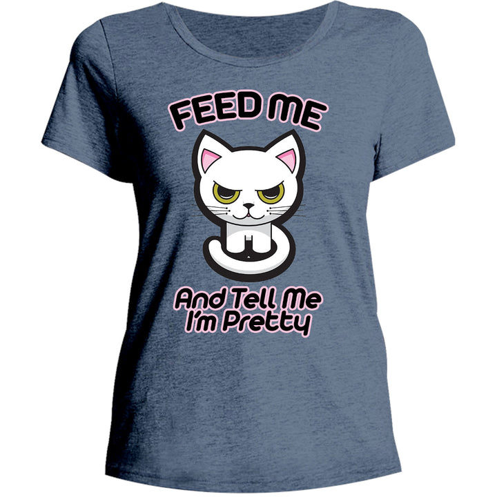 Feed Me - Ladies Relaxed Fit Tee - Graphic Tees Australia
