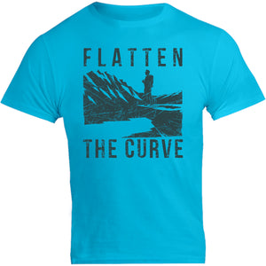 Flatten The Curve - Unisex Tee - Graphic Tees Australia