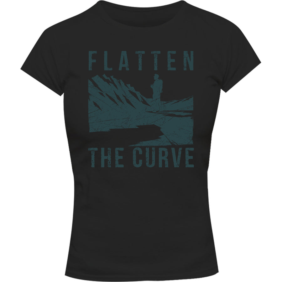 Flatten The Curve - Ladies Slim Fit Tee - Graphic Tees Australia