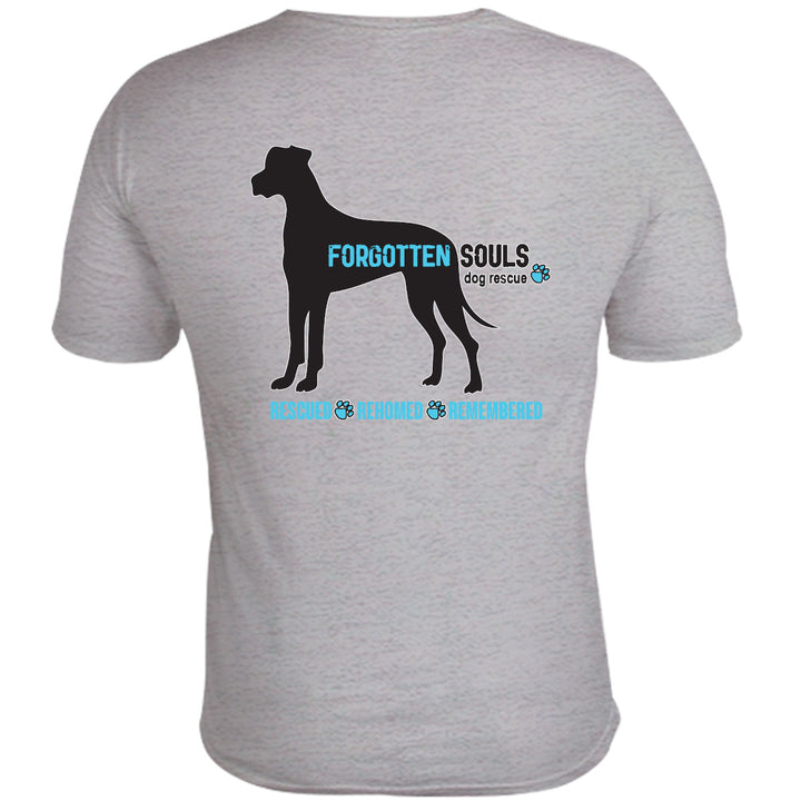 Forgotten Souls Dog Rescue front & back - Unisex Tee - Graphic Tees Australia
