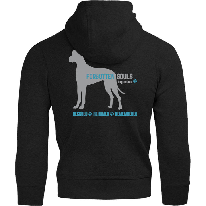 Forgotten Souls Dog Rescue front & back - Adult & Youth Hoodie - Graphic Tees Australia