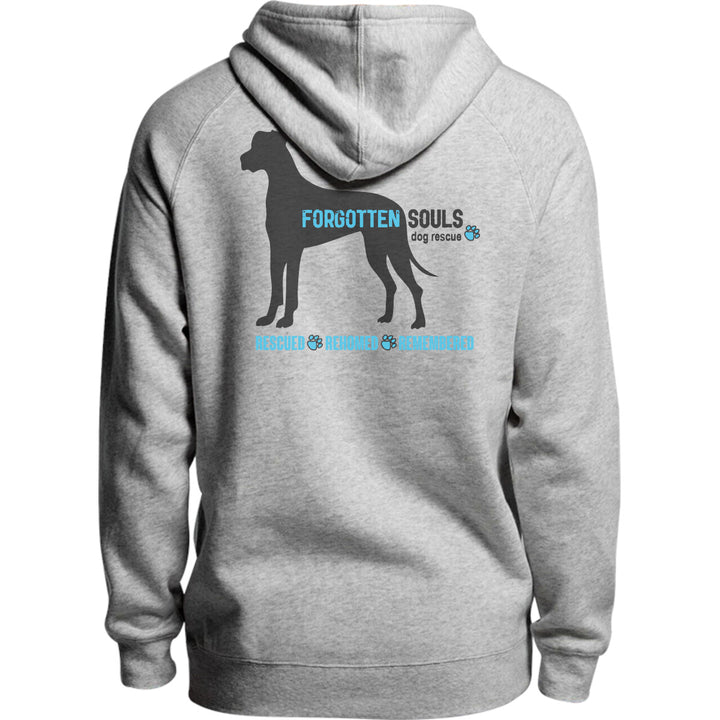 Forgotten Souls Dog Rescue front & back - Unisex Hoodie - Plus Size - Graphic Tees Australia