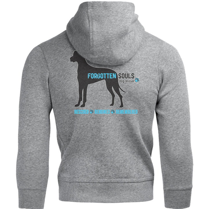 Forgotten Souls Dog Rescue front & back - Unisex Hoodie - Graphic Tees Australia