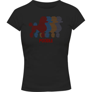 Four Poodles - Ladies Slim Fit Tee - Graphic Tees Australia