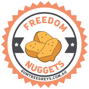 Freedom Nuggets front & back - Unisex Hoodie - Plus Size