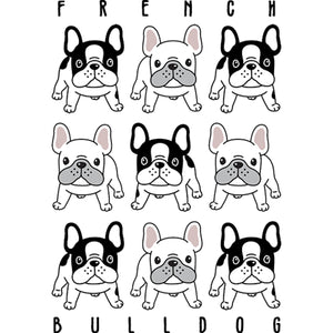 French Bulldog In Rows - Unisex Tee - Graphic Tees Australia