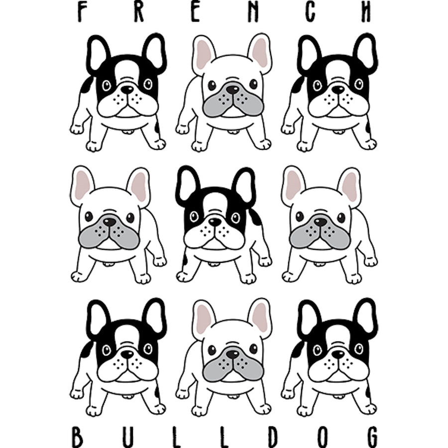 French Bulldog In Rows - Adult & Youth Hoodie - Graphic Tees Australia